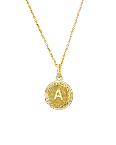 The Initial Medallion (Adelle) -18K Yellow Gold Plated- The Adorned-