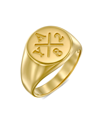 The Memories Signet Ring -18K Yellow Gold Plated- The Adorned-