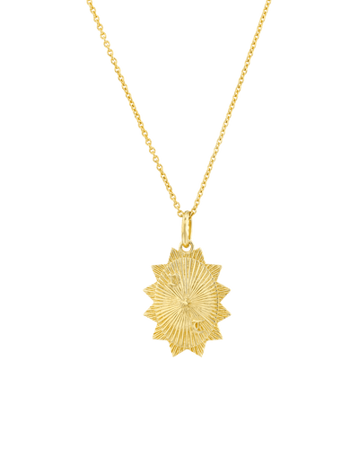 The Oval Sun (2 Initials) -18K Yellow Gold Plated- The Adorned-
