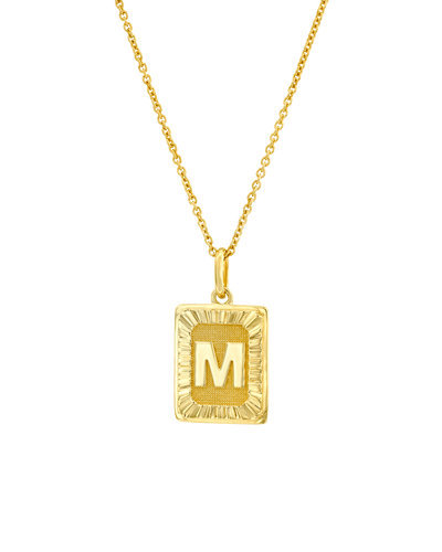 The Rectangle Dogtag (Adelle) -18K Yellow Gold Plated- The Adorned-