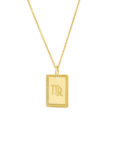 The Rectangular Zodiac Medallion -18K Yellow Gold Plated- The Adorned-