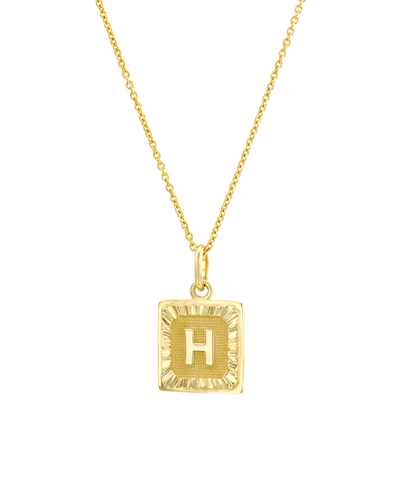 The Square Dogtag (Adelle) -18K Yellow Gold Plated- The Adorned-