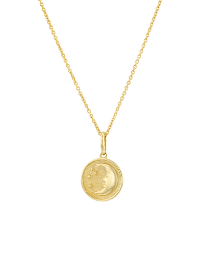 The Stars and Moon Medallion -18K Yellow Gold Plated- The Adorned-