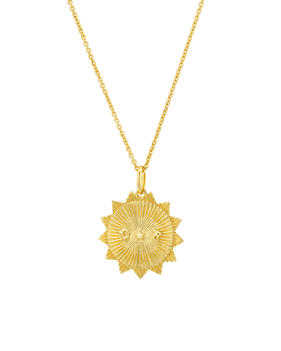 The Sun (2 Initials) -18K Yellow Gold Plated- The Adorned-