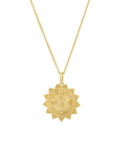 The Sun (4 Initials) -18K Yellow Gold Plated- The Adorned-