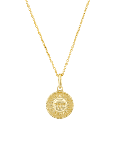 The Sun Medallion -18K Yellow Gold Plated- The Adorned-