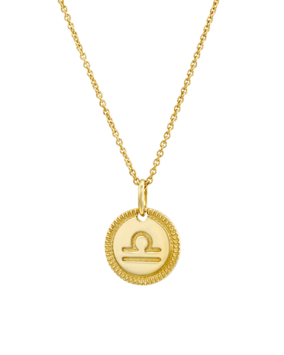 The Zodiac Medallion -18K Yellow Gold Plated- The Adorned-