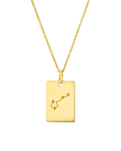 The Zodiac Sign Map Dogtag -18K Yellow Gold Plated- The Adorned-