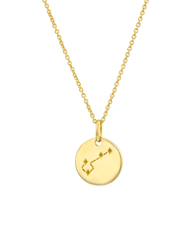 The Zodiac Sign Map Medallion -18K Yellow Gold Plated- The Adorned-