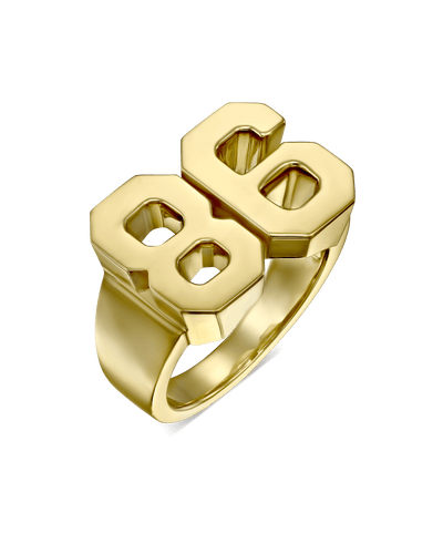 Years Ring -18K Yellow Gold Plated- The Adorned-