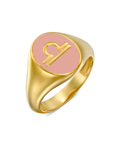 Zodiac Ring -18K Yellow Gold Plated- The Adorned-
