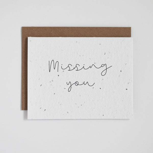Missing You Floral Seed Card