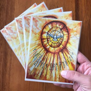 FRUITS AND GIFTS OF THE HOLY SPIRIT GREETING CARDS