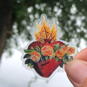 "HEART STICKERS - 3"" CLEAR VINYL"