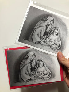 HOLY FAMILY HOLIDAY GREETING CARD (WHITE ENVELOPES)