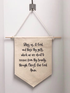 """BLESS US, O LORD"" HANGING WALL CANVAS"