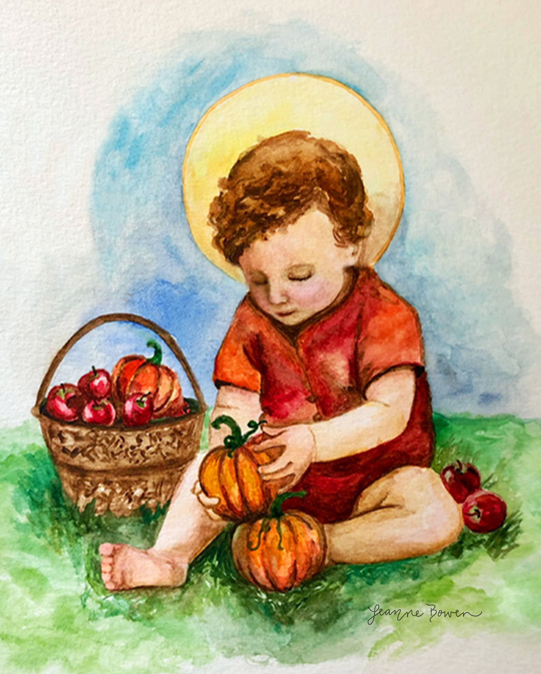 JESUS IN THE PUMPKIN PATCH