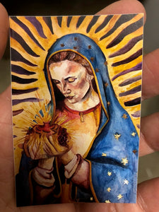 OUR LADY OF GUADALUPE - 2 x 3 RECTANGULAR STICKER