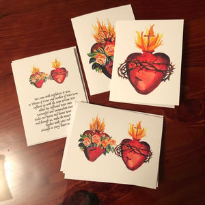 TWO HEARTS CARD SET