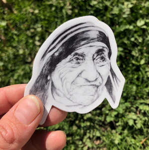 SAINT MOTHER TERESA OF CALCUTTA VINYL STICKER