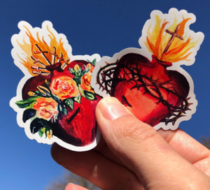 TWO HEARTS VINYL STICKER PACK