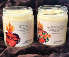 Load image into Gallery viewer, IMMACULATE HEART (MAGNOLIA, PEONY, AND ROSE) HAND POURED SOY CANDLE