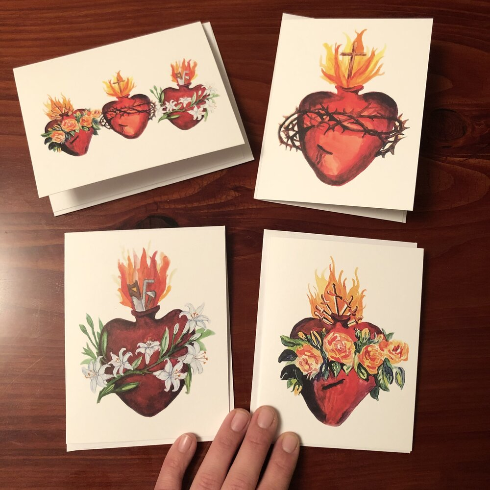 HEARTS OF THE HOLY FAMILY CARD SET