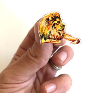 DIALOGUE (ASLAN) ACRYLIC PIN