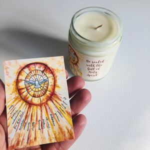 HOLY SPIRIT CONFIRMATION CANDLE (CHRISM SCENTED)