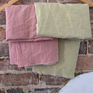 REMNANT - 58cm - Merchant and Mills Pink Fizz Laundered Linen/Cotton