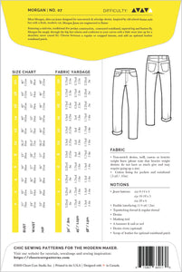 Closet Core Patterns - Morgan Jeans - Sewing Pattern