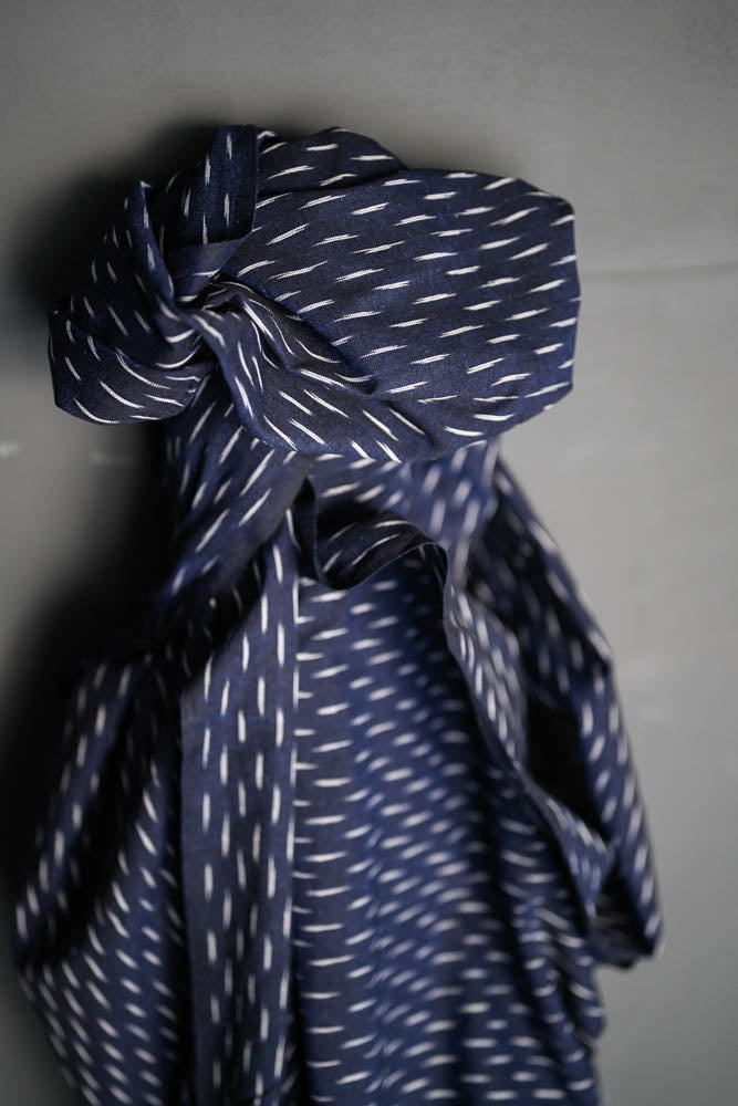 Merchant and Mills - Stormy Ikat Blue Cotton