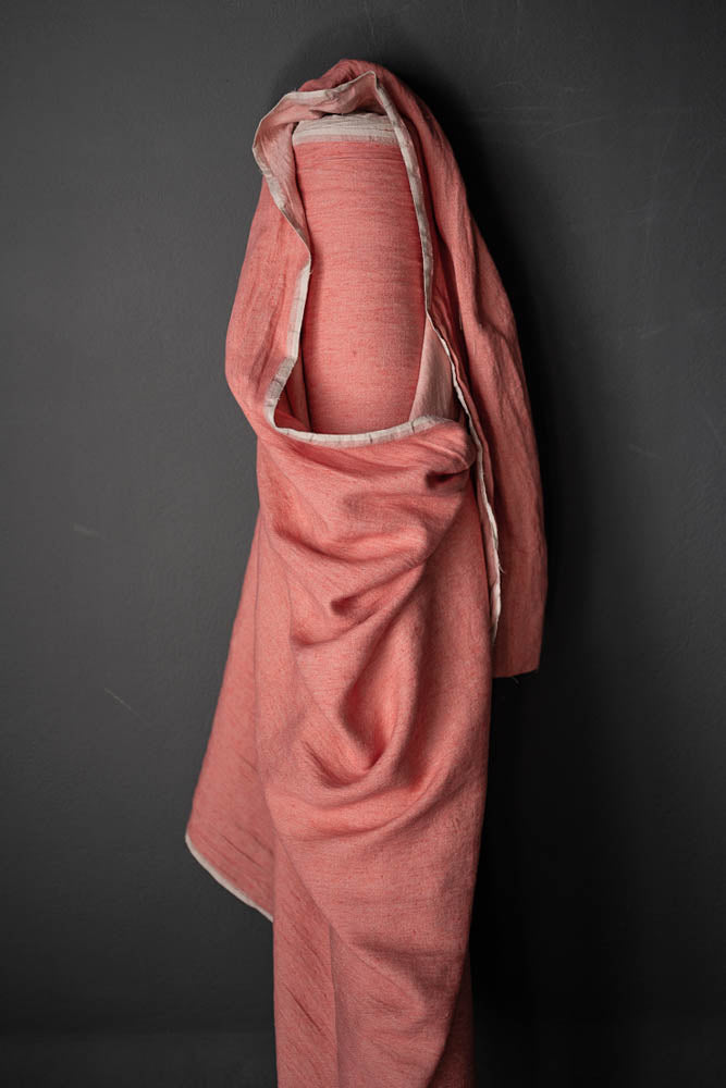 Merchant and Mills - Corallium Pink - European Laundered Linen Twill