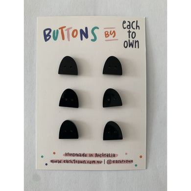 BUTTONS BY EACH TO OWN - BLACK - Gloss Acrylic - 17mm - 2