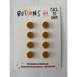 BUTTONS BY EACH TO OWN - MATTE MUSTARD - Matte Acrylic -