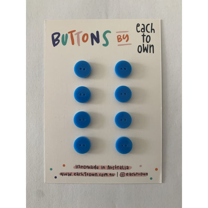 BUTTONS BY EACH TO OWN - SKY BLUE - Gloss Acrylic - 15mm - 2