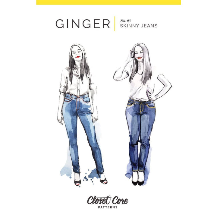 Closet Core Patterns - Ginger Jeans - Sewing Pattern -