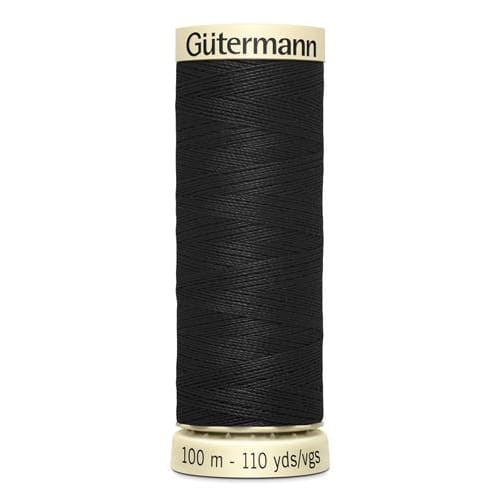 Gütermann Polyester Thread - 100m - Colour 000 - notion