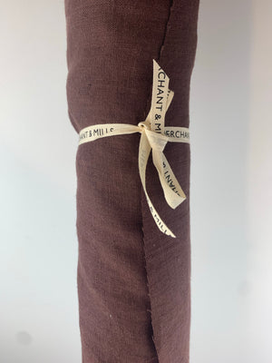 REMNANT - 49cm - Merchant and Mills - Oxblood - European Laundered Linen - 185gsm