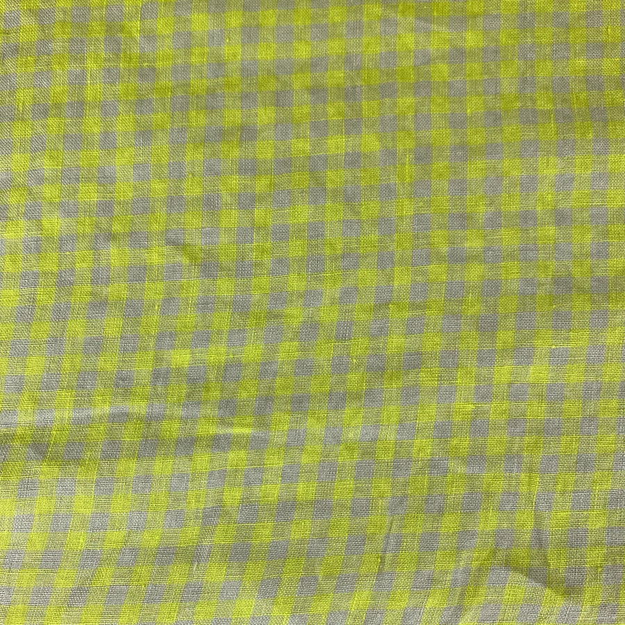 Merchant and Mills - Frankie Lemon Gingham Check - EU Linen