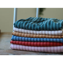 Load image into Gallery viewer, Meet MILK Two-Tone Stripe Tencel Twill Cider - fabric
