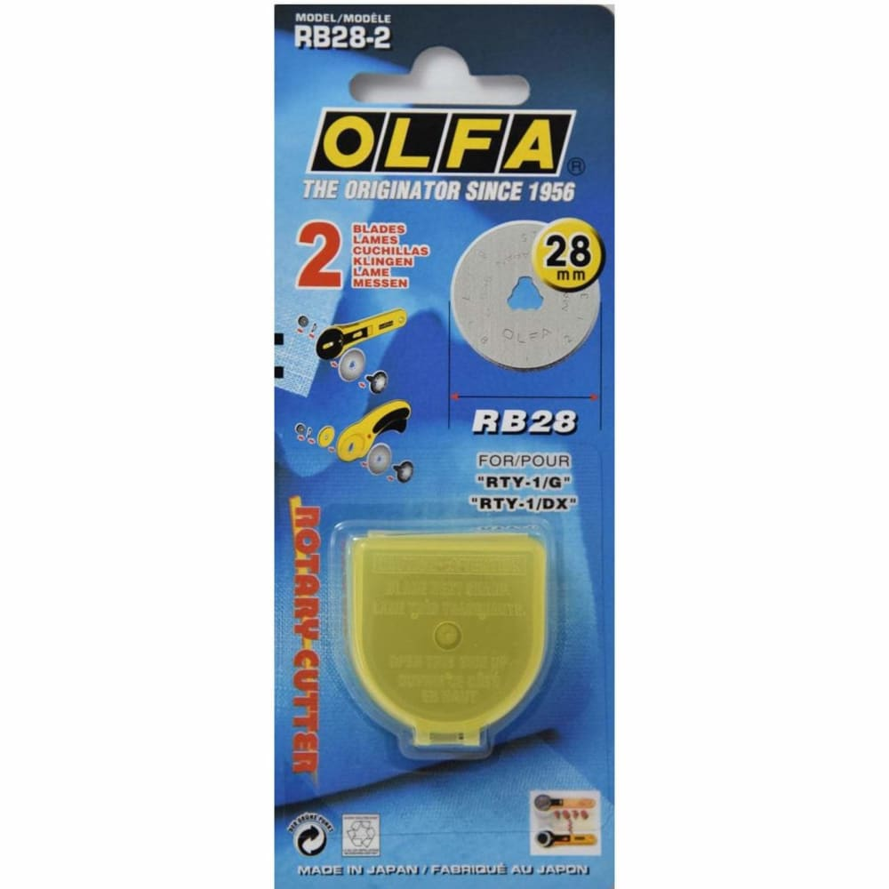Olfa 28mm Rotary Cutter Replacement Blade - 2 pack