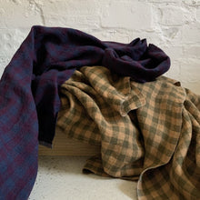Remnant 90cm - Merchant and Mills Winter Hymn Gingham Laundered Linen