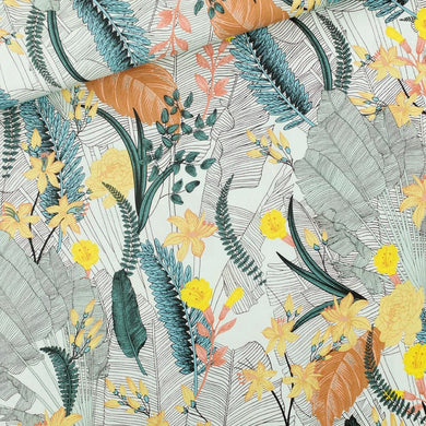 See You at Six - Tropic Flowers - Viscose - Chalk Blue -