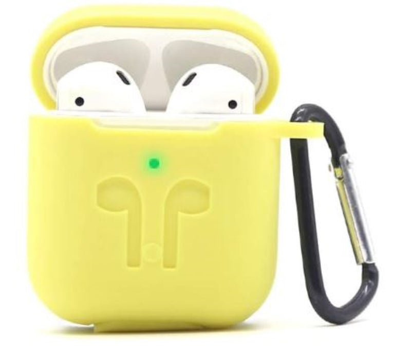 AirPods Silicone Case Cover Protective Skin with Keychain, Strap & Earhook Accessories