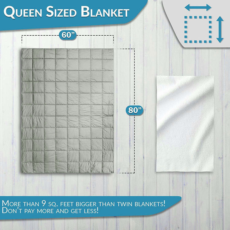 Weighted Blanket Adult Queen Size 15lbs