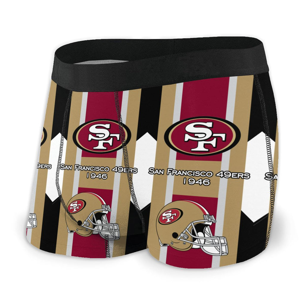 San Francisco 49ers Fashion Graphic Men's Underwear Boxer Briefs NFL American Football Team
