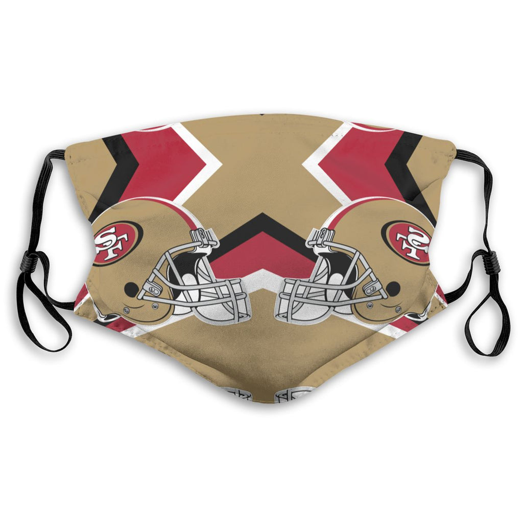 American Football Team San Francisco 49ers Face Mask Mouth Mask Fashion design