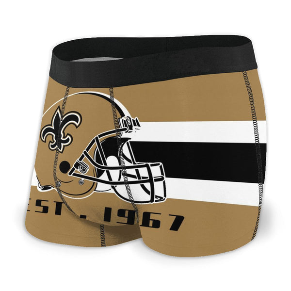 New Orleans Saints Fashion Graphic Men's Underwear Boxer Briefs NFL American Football Team