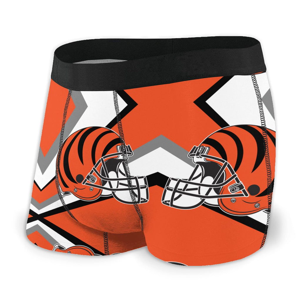 Cincinnati Bengals Fashion Graphic Men's Underwear Boxer Briefs NFL American Football Team